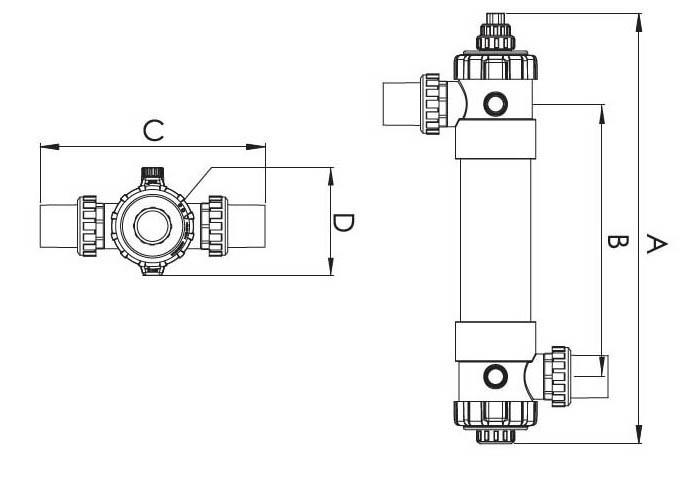 размеры модели ультрафиолетовой установки